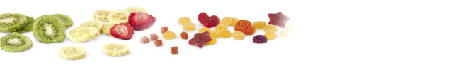 Freeze dried fruits and fruit granulates