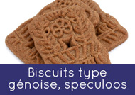 Biscuits type génoise, speculoos